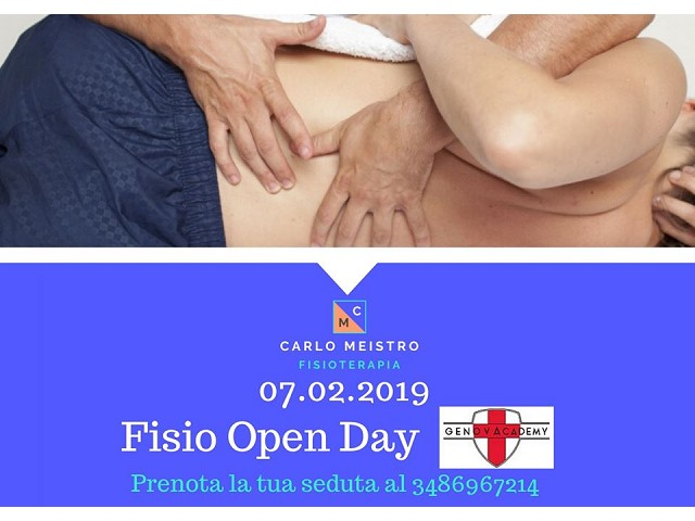 OPEN DAY FISIOTERAPIA